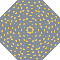 Limpet Polka Dot Yellow Grey Hook Handle Umbrellas (large) by Mariart