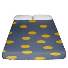 Limpet Polka Dot Yellow Grey Fitted Sheet (king Size) by Mariart