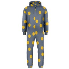 Limpet Polka Dot Yellow Grey Hooded Jumpsuit (men)  by Mariart