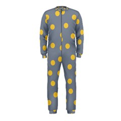Limpet Polka Dot Yellow Grey Onepiece Jumpsuit (kids) by Mariart