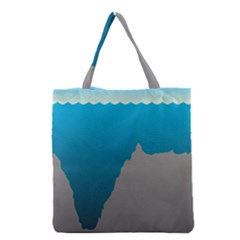 Mariana Trench Sea Beach Water Blue Grocery Tote Bag by Mariart