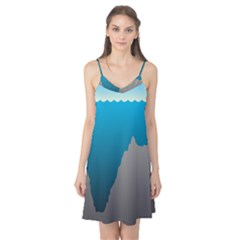 Mariana Trench Sea Beach Water Blue Camis Nightgown by Mariart
