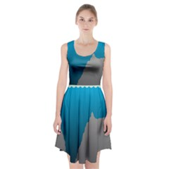 Mariana Trench Sea Beach Water Blue Racerback Midi Dress by Mariart