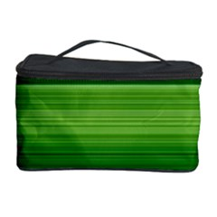 Horizontal Stripes Line Green Cosmetic Storage Case by Mariart