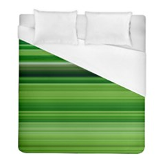 Horizontal Stripes Line Green Duvet Cover (full/ Double Size) by Mariart