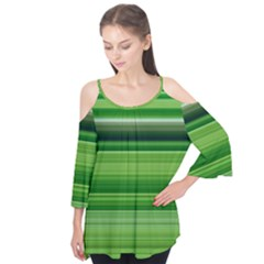 Horizontal Stripes Line Green Flutter Tees by Mariart