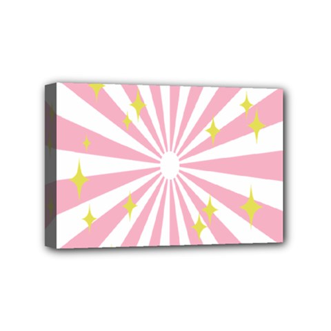 Hurak Pink Star Yellow Hole Sunlight Light Mini Canvas 6  X 4  by Mariart