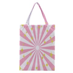 Hurak Pink Star Yellow Hole Sunlight Light Classic Tote Bag by Mariart