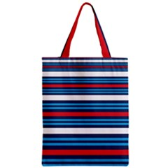 Martini Style Racing Tape Blue Red White Zipper Classic Tote Bag by Mariart