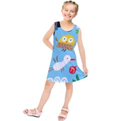 New Zealand Birds Close Fly Animals Kids  Tunic Dress by Mariart