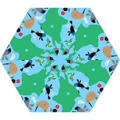 New Zealand Birds Detail Animals Fly Mini Folding Umbrellas by Mariart