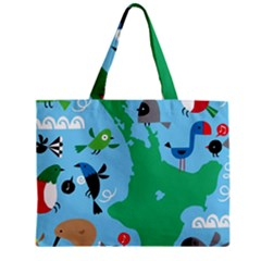 New Zealand Birds Detail Animals Fly Zipper Mini Tote Bag by Mariart