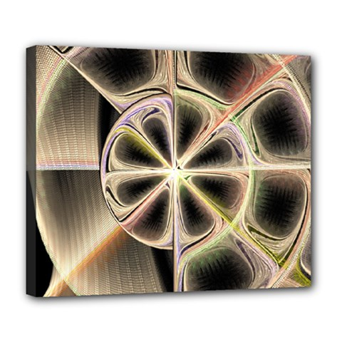 Background With Fractal Crazy Wheel Deluxe Canvas 24  X 20