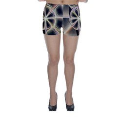 Background With Fractal Crazy Wheel Skinny Shorts by Simbadda