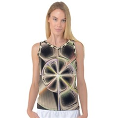Background With Fractal Crazy Wheel Women s Basketball Tank Top by Simbadda