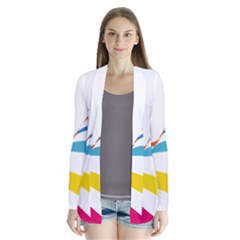 Line Rainbow Orange Blue Yellow Red Pink White Wave Waves Cardigans by Mariart