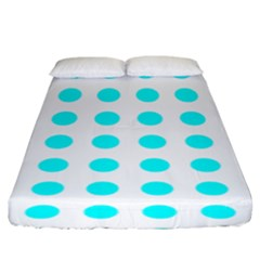Polka Dot Blue White Fitted Sheet (king Size) by Mariart