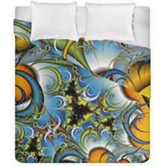 High Detailed Fractal Image Background With Abstract Streak Shape Duvet Cover Double Side (california King Size)
