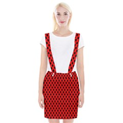 Polka Dot Black Red Hole Backgrounds Suspender Skirt