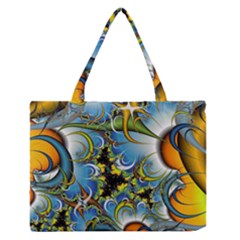 High Detailed Fractal Image Background With Abstract Streak Shape Medium Zipper Tote Bag by Simbadda