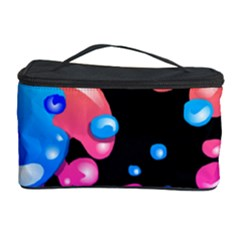Neon Paint Splatter Background Club Cosmetic Storage Case by Mariart