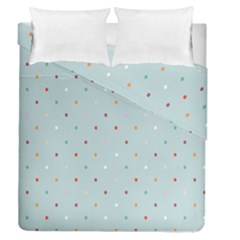 Polka Dot Flooring Blue Orange Blur Spot Duvet Cover Double Side (queen Size) by Mariart