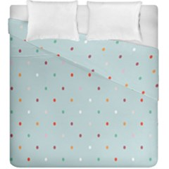 Polka Dot Flooring Blue Orange Blur Spot Duvet Cover Double Side (king Size) by Mariart