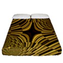 Fractal Golden River Fitted Sheet (California King Size) View1
