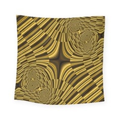 Fractal Golden River Square Tapestry (small) by Simbadda