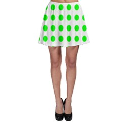 Polka Dot Green Skater Skirt