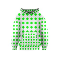 Polka Dot Green Kids  Pullover Hoodie by Mariart