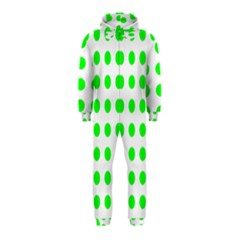 Polka Dot Green Hooded Jumpsuit (kids) by Mariart