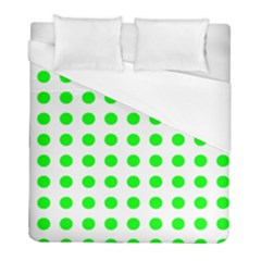 Polka Dot Green Duvet Cover (full/ Double Size) by Mariart