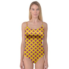 Polka Dot Purple Yellow Orange Camisole Leotard  by Mariart