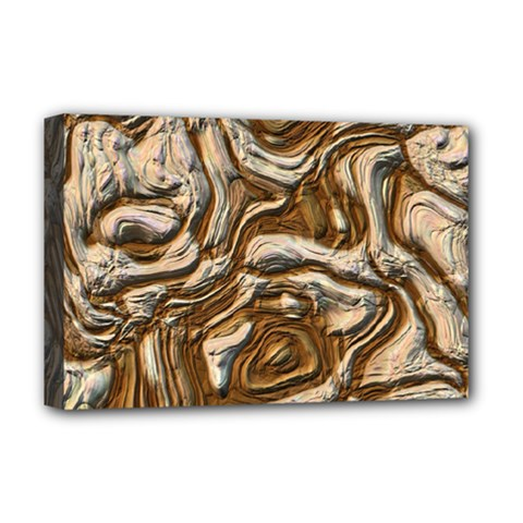 Fractal Background Mud Flow Deluxe Canvas 18  X 12   by Simbadda