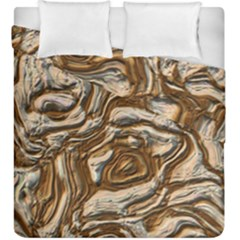 Fractal Background Mud Flow Duvet Cover Double Side (king Size) by Simbadda