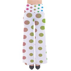 Polka Dot Pink Green Blue Pants by Mariart