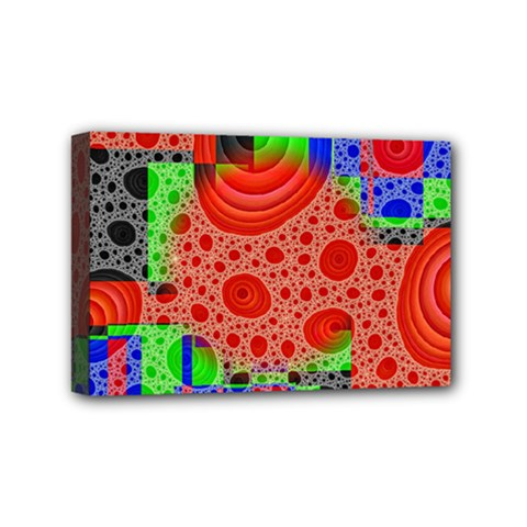Background With Fractal Digital Cubist Drawing Mini Canvas 6  X 4  by Simbadda