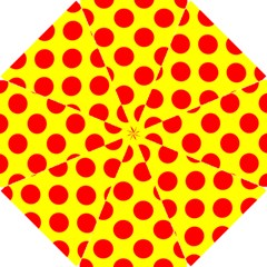 Polka Dot Red Yellow Hook Handle Umbrellas (small) by Mariart