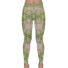 Digital Computer Graphic Seamless Wallpaper Classic Yoga Leggings by Simbadda