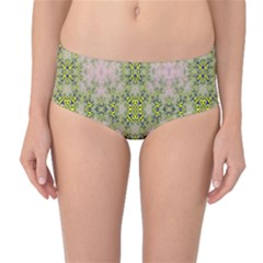 Digital Computer Graphic Seamless Wallpaper Mid Waist Bikini Bottoms by Simbadda