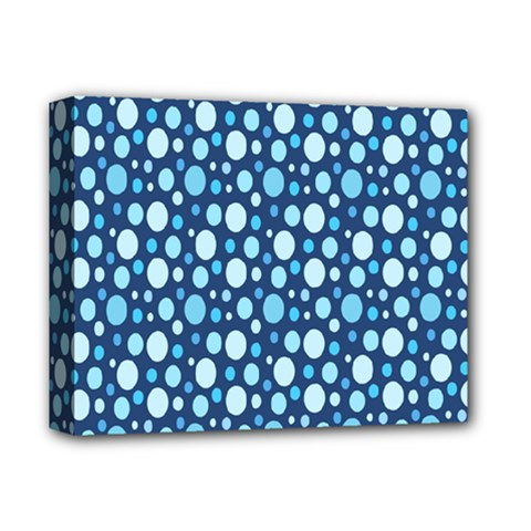 Polka Dot Blue Deluxe Canvas 14  X 11  by Mariart