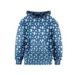 Polka Dot Blue Kids  Pullover Hoodie by Mariart