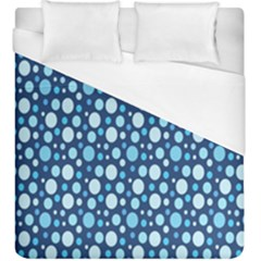 Polka Dot Blue Duvet Cover (king Size) by Mariart