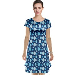 Polka Dot Blue Cap Sleeve Nightdress by Mariart