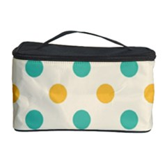 Polka Dot Yellow Green Blue Cosmetic Storage Case by Mariart