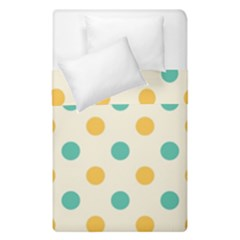 Polka Dot Yellow Green Blue Duvet Cover Double Side (single Size) by Mariart