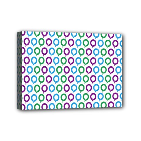 Polka Dot Like Circle Purple Blue Green Mini Canvas 7  X 5  by Mariart