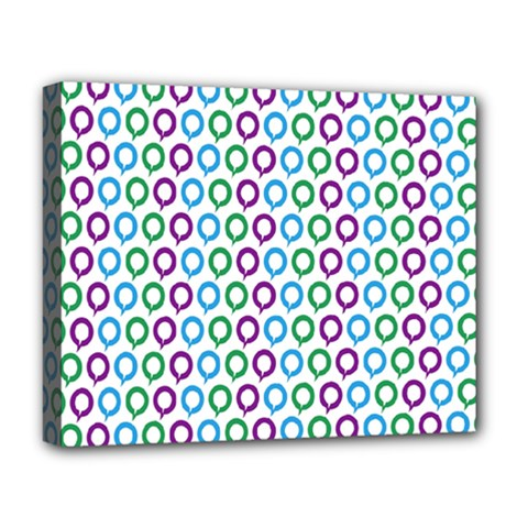 Polka Dot Like Circle Purple Blue Green Deluxe Canvas 20  X 16   by Mariart
