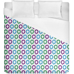 Polka Dot Like Circle Purple Blue Green Duvet Cover (king Size) by Mariart